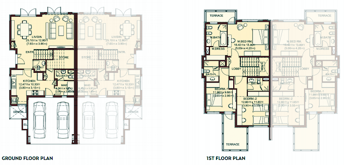 Planning of the apartment Villas, 2526 in Villa Lantana, Dubai