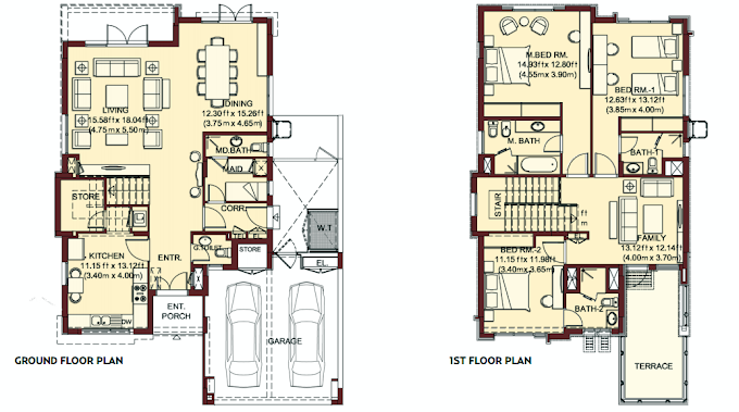 Planning of the apartment Villas, 3024 in Villa Lantana, Dubai
