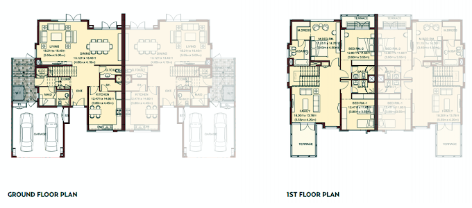 Planning of the apartment Villas, 3210 in Villa Lantana, Dubai