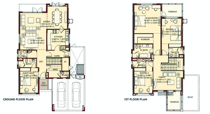 Planning of the apartment Villas, 3468 in Villa Lantana, Dubai