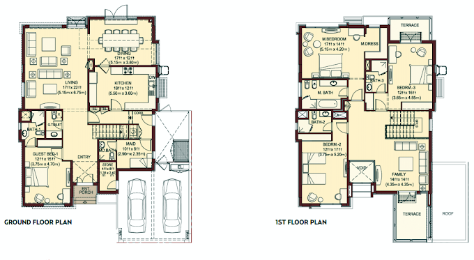 Planning of the apartment Villas, 4107 in Villa Lantana, Dubai