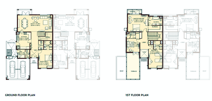 Planning of the apartment Villas, 4151 in Villa Lantana, Dubai
