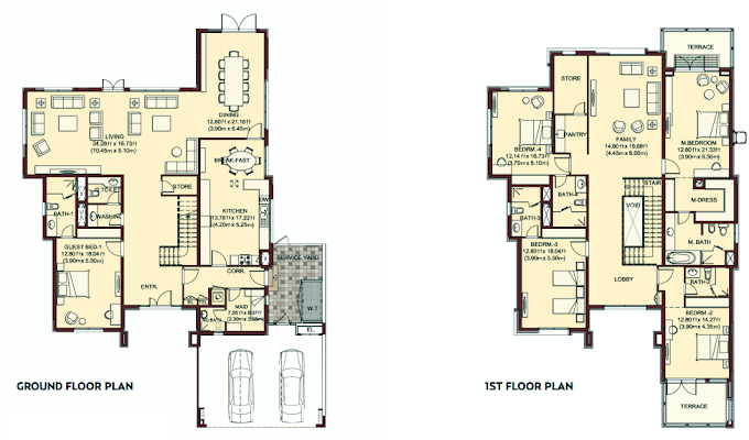 Planning of the apartment Villas, 5747 in Villa Lantana, Dubai