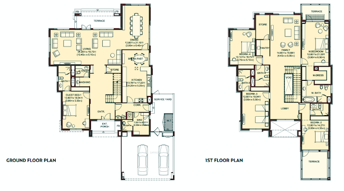 Planning of the apartment Villas, 5921 in Villa Lantana, Dubai