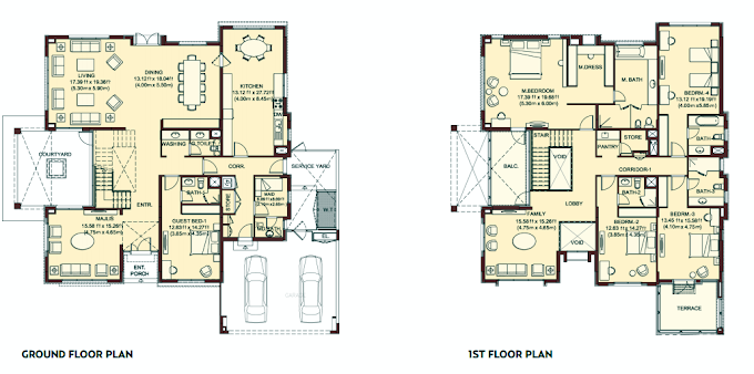 Planning of the apartment Villas, 6082 in Villa Lantana, Dubai