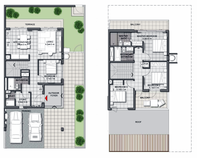 Planning of the apartment Villas 4BR, 2541.79 in Expo Golf Villas, Dubai