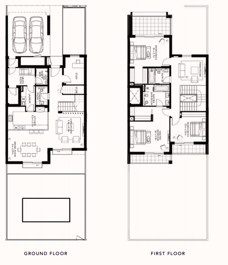Planning of the apartment Townhouses, 3358.34 in The Cedars, Abu Dhabi