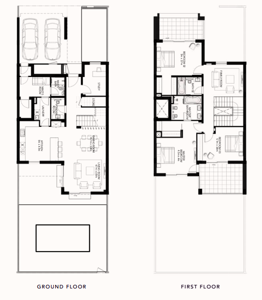 Planning of the apartment Townhouses, 3390.63 in The Cedars, Abu Dhabi