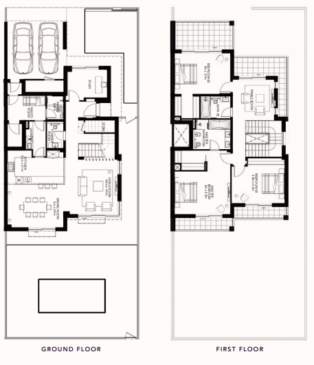 Planning of the apartment Townhouses, 3584.38 in The Cedars, Abu Dhabi