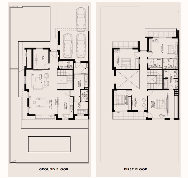 Planning of the apartment Villas, 3735.07 in The Cedars, Abu Dhabi