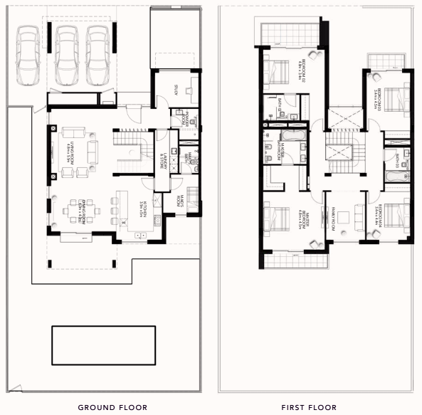 Planning of the apartment Villas, 3810.42 in The Cedars, Abu Dhabi