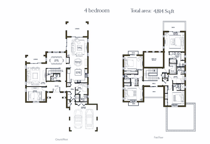 Planning of the apartment 4BR, 4814 in Rasha Villas, Dubai
