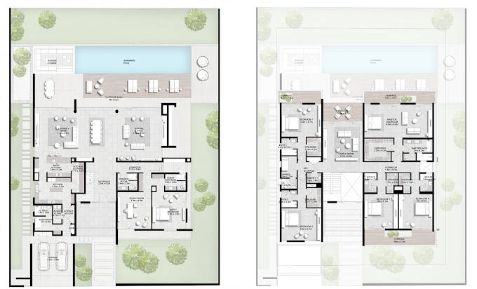 Planning of the apartment Villas, 9145.74 in Majestic Vistas, Dubai