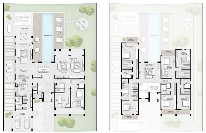 Planning of the apartment Villas, 9655.42 in Majestic Vistas, Dubai