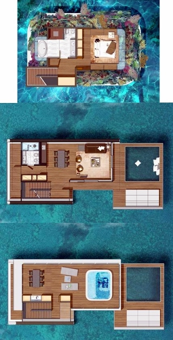 Planning of the apartment Villas 4BR, 4004 in The Floating Seahorse, Dubai
