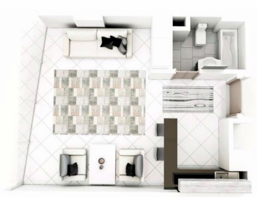 Planning of the apartment Studios, 750 in Al Multaqa Avenue (Mirdif Hills), Dubai
