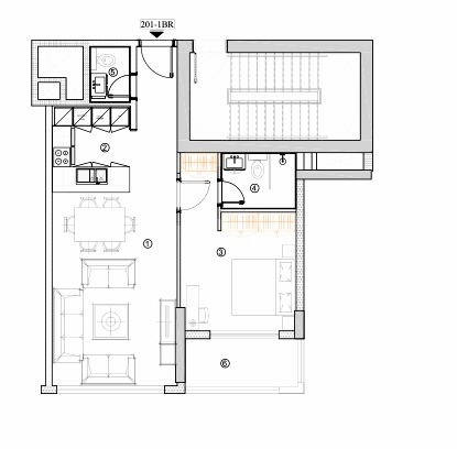 Planning of the apartment 1BR, 752.94 in Avenue Residence 4, Dubai