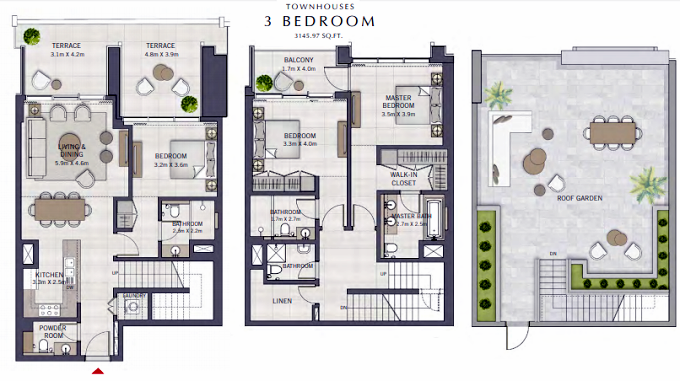 Planning of the apartment Townhouses, 3145.97 in The Grand, Dubai