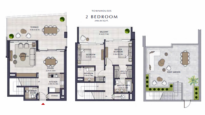 Planning of the apartment Townhouses, 2946.84 in The Grand, Dubai