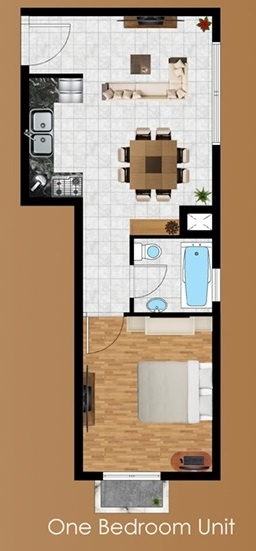 Planning of the apartment Studios,  in Eton Residences, Dubai