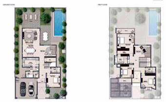 Planning of the apartment Villas, 3539 in Al Zahia, Sharjah