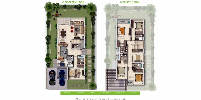 Planning of the apartment Villa 6BR, 3142 in Acuna, Dubai