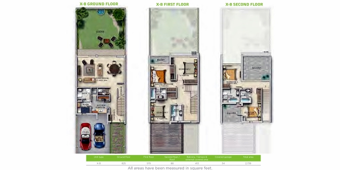 Planning of the apartment Villas 5BR, 2739 in Trixis, Dubai