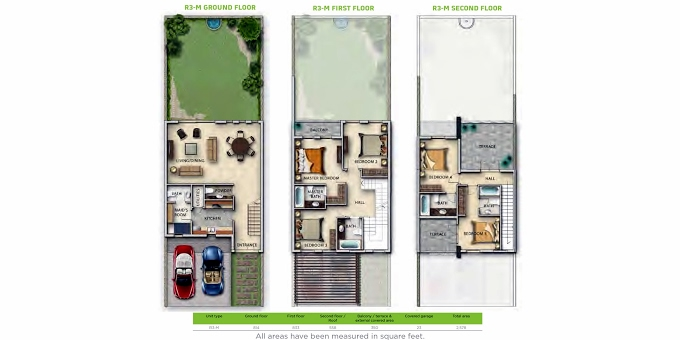 Planning of the apartment Villa 5BR, 2516.17 in Aster, Dubai