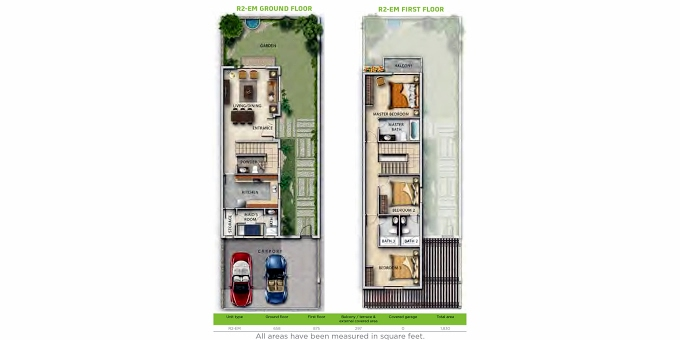Planning of the apartment Villa 3BR, 1768.4 in Juniper, Dubai