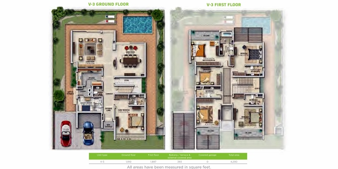 Planning of the apartment Villa 6BR, 4055.73 in Primrose, Dubai