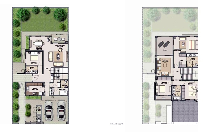 Planning of the apartment Villas 4BR, 2863.2 in Al Zahia, Sharjah