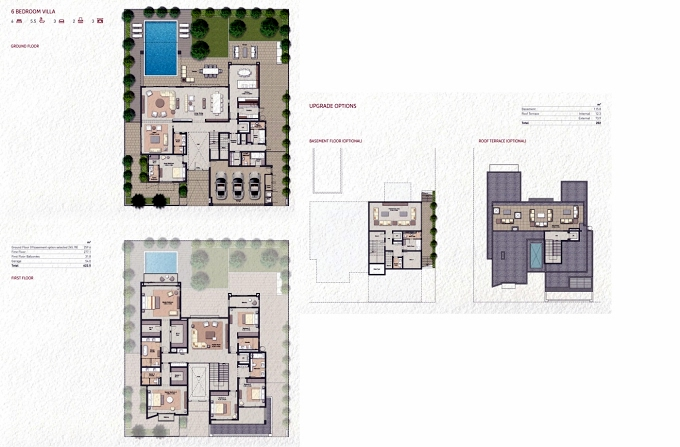 Planning of the apartment Villas 6BR, 6700.53 in Al Zahia, Sharjah
