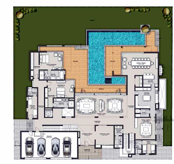 Planning of the apartment Villas 2BR, 13982 in Sobha Hartland Villas, Dubai
