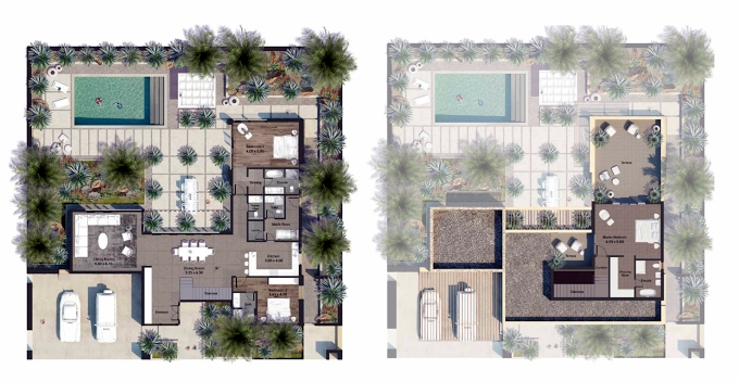 Planning of the apartment Villas 4BR, 4510.08 in AlJurf Gardens, Abu Dhabi