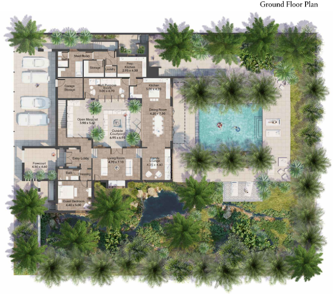 Planning of the apartment Villas 5BR, 6888 in AlJurf Gardens, Abu Dhabi