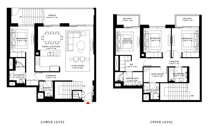 Planning of the apartment Villas 4BR, 2194.97 in Beach Isle, Dubai