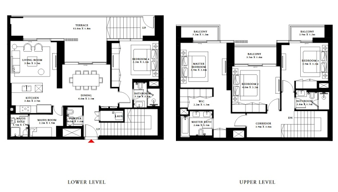 Planning of the apartment Villas 4BR, 2064.19 in Beach Isle, Dubai