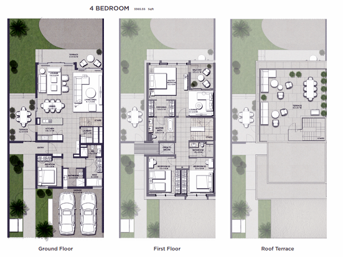 Planning of the apartment 4BR, 3365.55 in Club Villas, Dubai