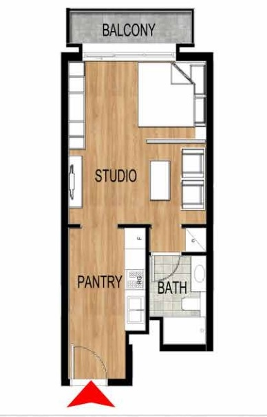Planning of the apartment Studios, 442.4 in Pantheon Elysee, Dubai