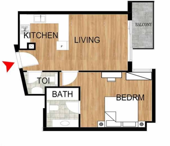Planning of the apartment 1BR, 743.25 in Pantheon Elysee, Dubai