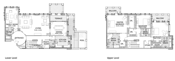 Planning of the apartment Penthouses, 5165 in Balqis Residence Apartments, Townhouses and Villas, Dubai