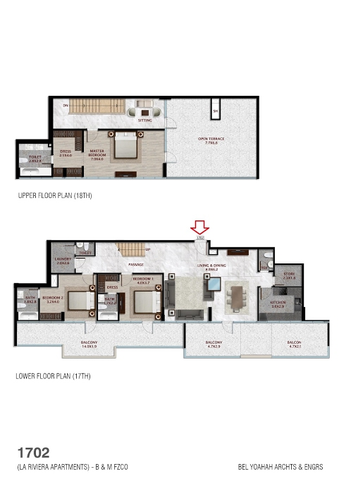 Planning of the apartment Penthouses, 3784.8 in La Riviera Apartments, Dubai