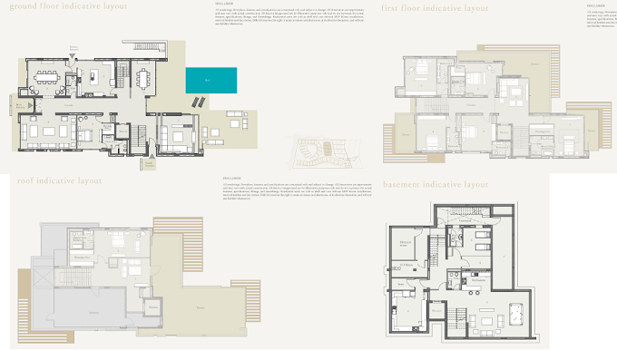 Planning of the apartment Villas 6BR, 13584.05 in Nudra, Abu Dhabi