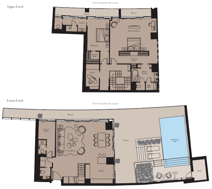 Planning of the apartment 2BR, 2720 in The Royal Atlantis Resort & Residences, Dubai