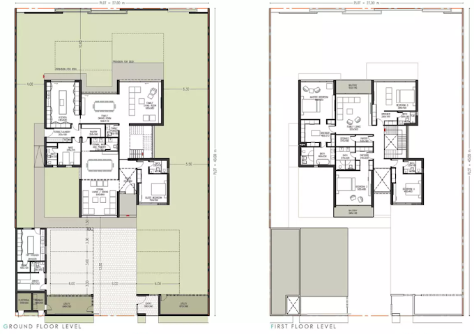 Planning of the apartment Villas 5BR, 6060 in Jubail Island, Abu Dhabi