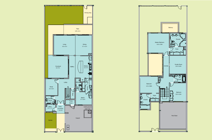 Planning of the apartment Townhouses 3BR, 3252.31 in Malibu Villas, Ras Al Khaimah