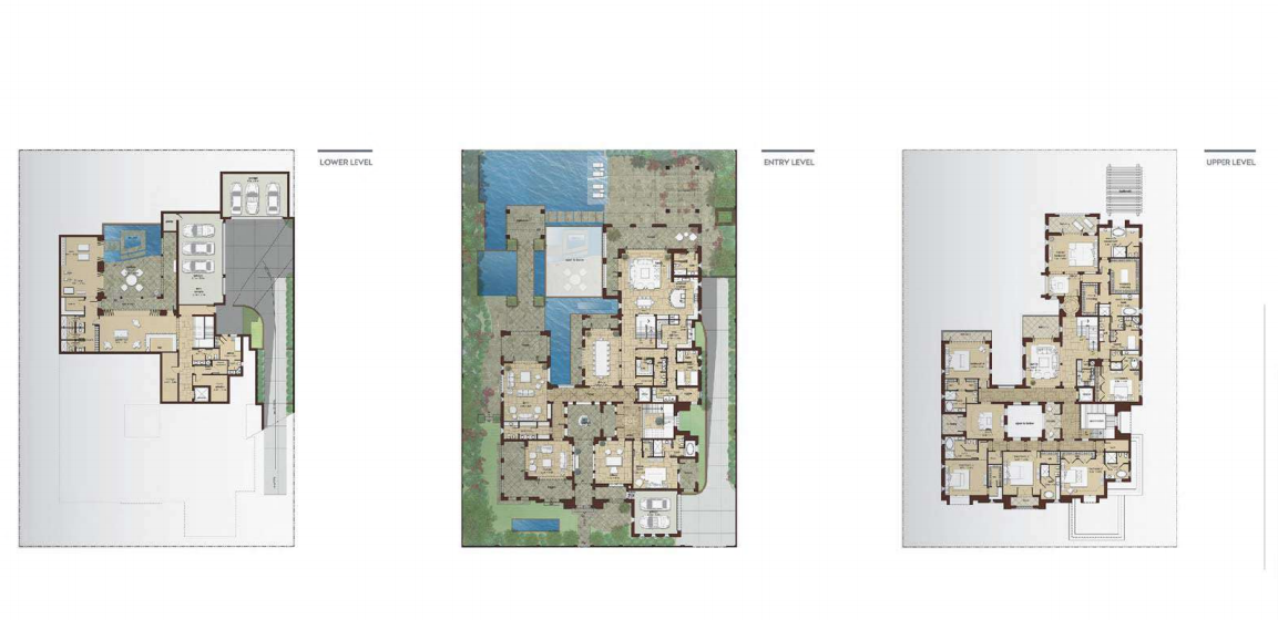 Planning of the apartment Villas, 22699 in Dubai Hills Grove and Views, Dubai