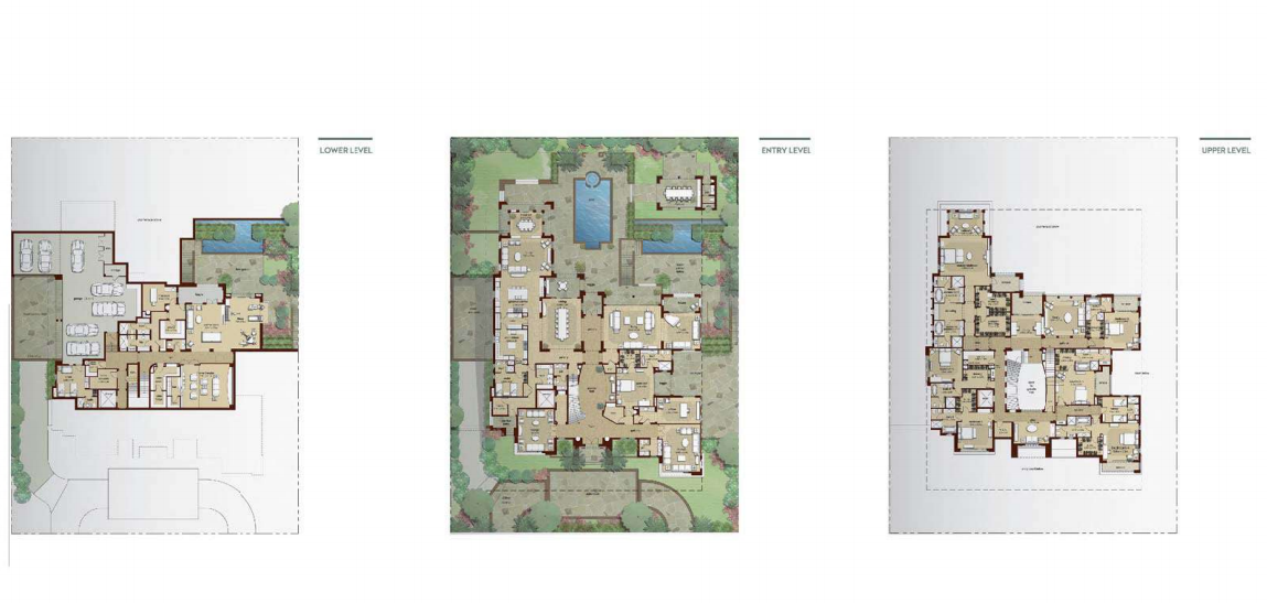 Planning of the apartment Villas, 21581 in Dubai Hills Grove and Views, Dubai