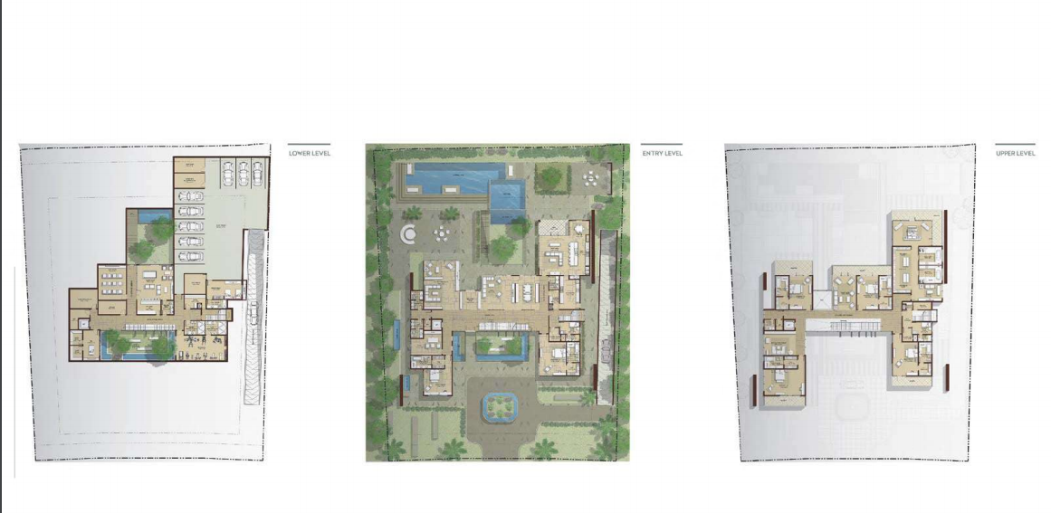 Planning of the apartment Villas, 24931 in Dubai Hills Grove and Views, Dubai