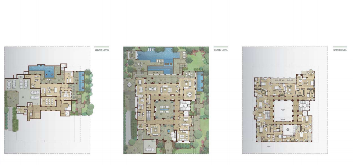 Planning of the apartment Villas, 31164 in Dubai Hills Grove and Views, Dubai